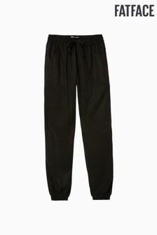 Pantalon FatFace Lyme noir à chevilles resserrées
