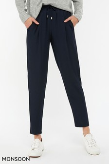 Monsoon Ladies Blue Sara Smart Peg Trouser