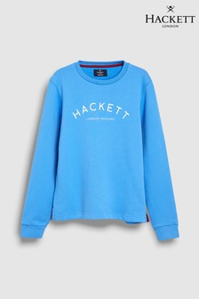 Hackett Kids Classic Crew Neck Blue Sweat