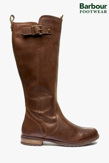 Barbour® Brown Leather Rebecca Knee High Boots