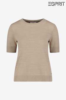 Esprit Cream New Utility Jumper With Pockets