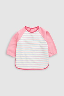 Multi Stripe Long Sleeved Dribble Proof Bib