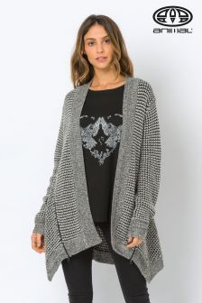 Animal Charcoal Allison Iva Knitted Cardigan