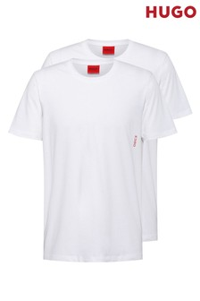HUGO White Lounge T-Shirts Two Pack