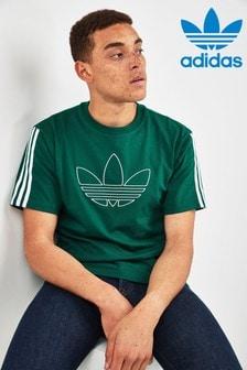 adidas Originals Green Outline Trefoil T-Shirt