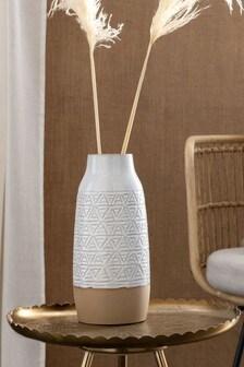 Debossed Ceramic Vase