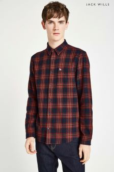 Jack Wills Red Langworth Flannel Check Shirt