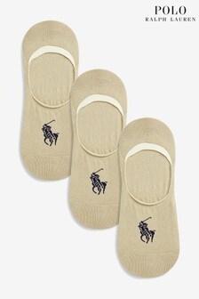 Polo Ralph Lauren® Beige No Show Socks 3 Pack