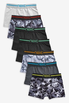 Camouflage Trunks Seven Pack (2-16yrs)