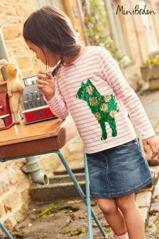 Boden Pink Colour Change Sequin T-Shirt