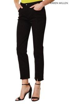 Karen Millen Black Split Front Jeans