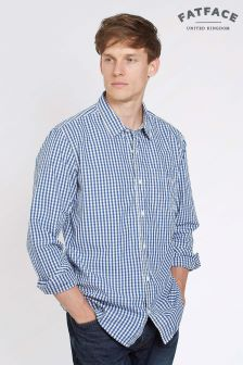 FatFace Blue Medford Gingham Shirt