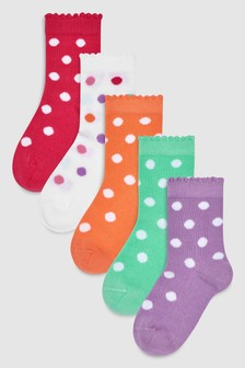 Spot Socks Five Pack (Younger)