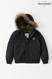Abercrombie & Fitch Black Winter Bomber Jacket