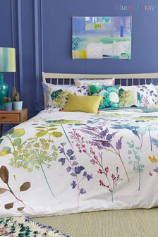 Bluebellgray Botanical Floral Cotton Duvet Cover and Pillowcase Set