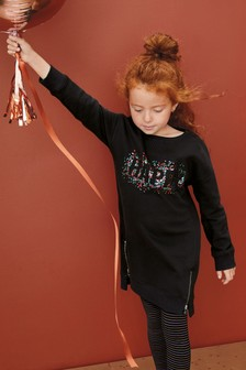 Długi sweter sukienka (3-16 lat)