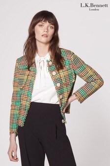 L.K.Bennett Cream Bonnie Tweed Jacket