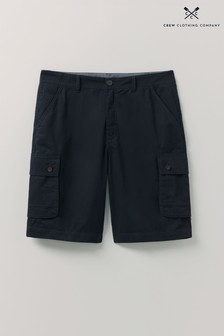 Crew Clothing Company Blue Lightweight Cargo Shorts