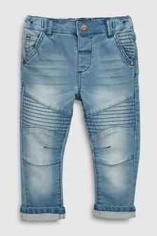 Jeans stile motociclista (3 mesi - 7 anni)