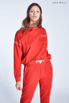 Jack Wills Red Cleevedale Crew