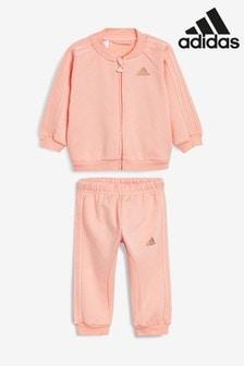 Розовый/золотистый спортивный костюм с 3 полосками для малышей adidas