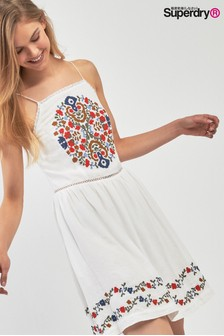 Superdry White Apron Dress