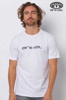 Animal White Classico Graphic T-Shirt