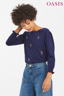Oasis Multi Alice Embroidered Jumper