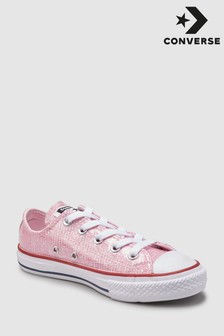 Converse Youth Pink Metallic Chuck Ox