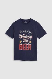 Футболка с надписью «Wonderful Time For A Beer»