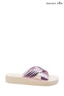 Rocket Dog Pink Moon Shimmy Slip-On Sandals