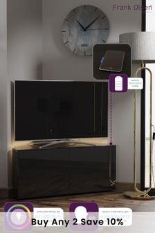 Frank Olsen Smart LED Black Corner TV Cabinet