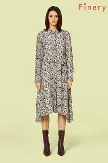 Finery London Yvonne Hemdkleid in Schlangenhaut-Optik, mehrfarbig