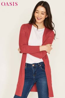Oasis Orange Edge To Edge Cardi