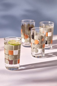 Set of 4 Geometry Tumbler Glasses