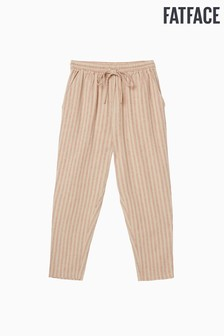 FatFace Natural Perth Stripe Tapered Trouser