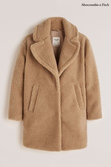 Abercrombie & Fitch Brown Sherpa Coat