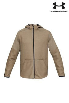 Under Armour Taupe Unstoppable Move Light Full Zip Hoody