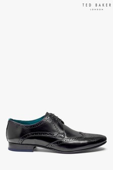 Ted Baker Black Hosei Brogue Shoes