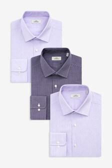 Stripe And Textured Shirts Three Pack