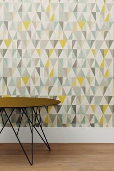 Paste The Paper Textured Geo Wallpaper