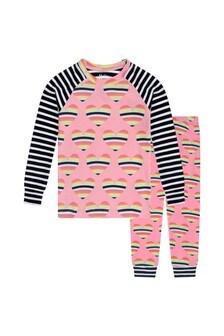 Girls Organic Cotton Pink Pyjamas