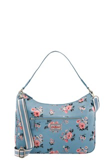 Cath Kidston® Blue Grove Bunch Curve Shoulder Bag