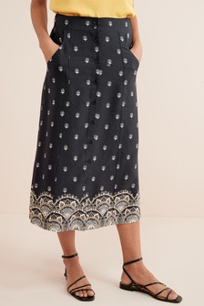 e4bd198928 Midi Skirts for Women | Plain & Animal Printed Midi Skirts | Next UK