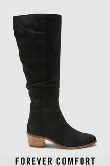 Forever Comfort Knee High Slouch Boots