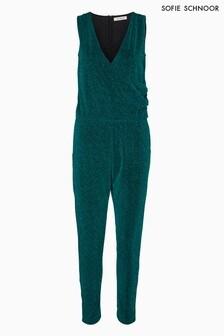 Sofie Schnoor Green Lurex Sparkly Jumpsuit