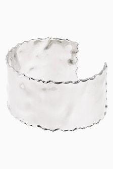 Dented Effect Metal Cuff