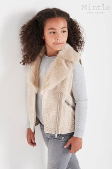 Mintie by Mint Velvet Neutral Borg Mix Gilet