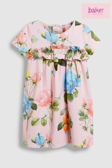 baker by Ted Baker Pink Rose Ruffle Dress