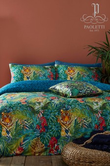 Riva Home Kanha Tropical Animal Duvet Cover and Pillowcase Set